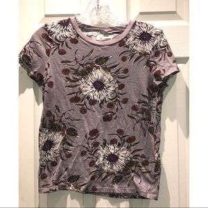 MADEWELL FLORAL CREW NECK SHORT SLEEVE size SMALL